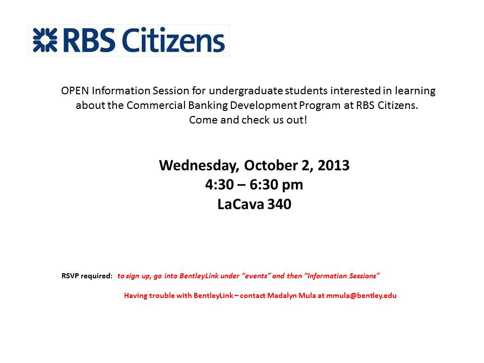 Come learn about RBS Citizens Commercial Banking ...