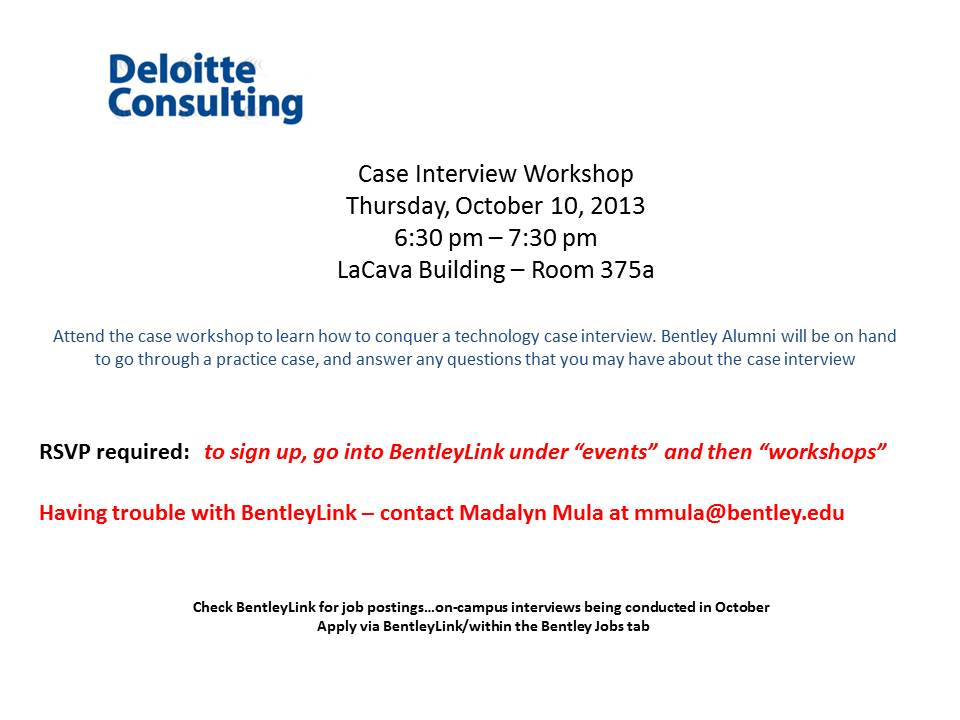 case study for interviews in deloitte
